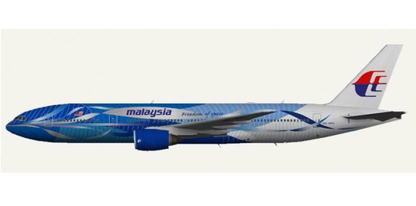 Le Boeing 777-200 de Malaysia Airlines qui s'est écrasé en Ukraine. (Malaysia Airlines)